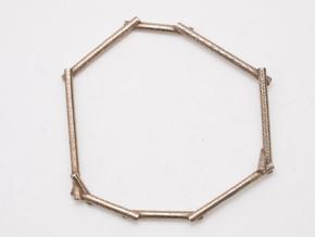 Stick Bracelet in Polished Bronzed Silver Steel
