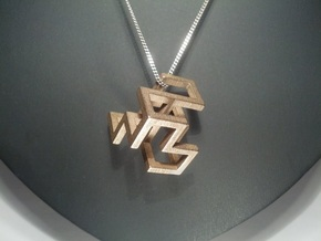 Cube Frame Pendant in Stainless Steel
