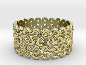 Plonter ring size 7 in 18K Gold Plated