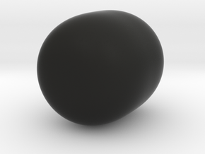 Super Egg in Black Natural Versatile Plastic