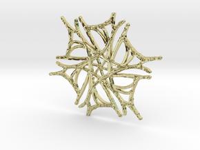 :Nature Dance V: Pendant in 18K Gold Plated