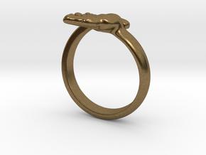 Newborn Baby hand ring in Natural Bronze