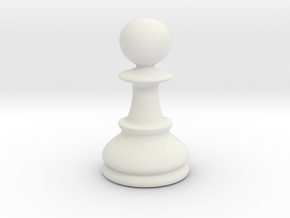 Pawn (Chess) in White Natural Versatile Plastic