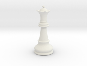 Queen (Chess) in White Natural Versatile Plastic