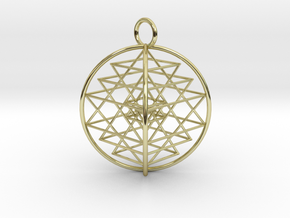 3D Sri Yantra 4 Sided Symmetrical in 18K Gold Plated