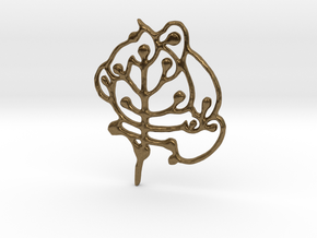 Neolithic 'Tree Of Life' Pendant in Natural Bronze
