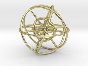Metatron's Hypercube Spheres 80mm in 18K Gold Plated