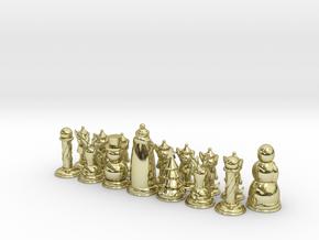 Chess365-Red Half in White Natural Versatile Plastic