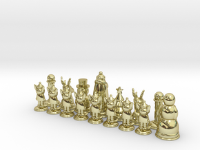 Chess365-Green Half in White Natural Versatile Plastic