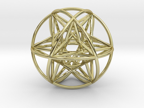 80 Cubeoctahedral Sphere Symmetry 48 x 3mm in 18K Gold Plated