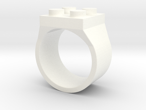 Brick Ring 4 Stud Type III in White Processed Versatile Plastic