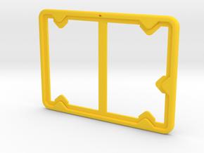 Badge Holder (Exhibition) in Yellow Processed Versatile Plastic