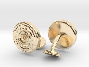 Ripple Cufflinks (pair) in 14k Gold Plated Brass