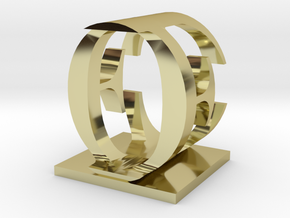 Two way letter / initial E&O in 18K Gold Plated