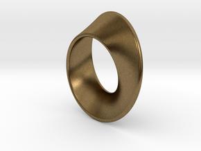Moebius Band 1 cm in Natural Bronze