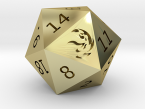 Mountain D20 in 18K Gold Plated