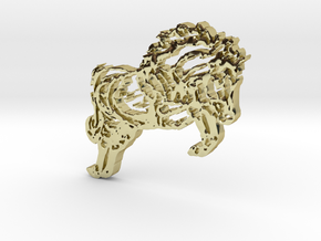 Horse Jumping in 18K Gold Plated