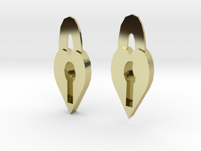 Lock Heart Earring set more printable in 18K Gold Plated