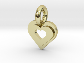 heart in 18K Gold Plated