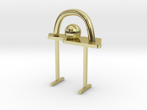 Abstract Table in 18K Gold Plated