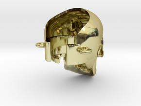 Crâne à la cigarette électronique in 18K Gold Plated