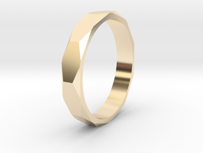 beveled ring   in 14k Gold Plated Brass: 10.5 / 62.75