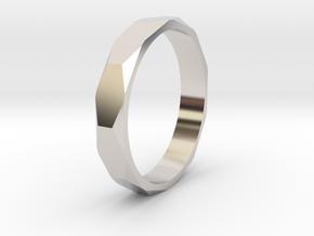 beveled ring   in Rhodium Plated Brass: 10.5 / 62.75
