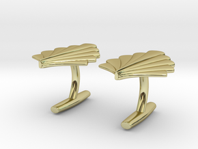 Art Deco Palm Cufflinks in 18K Gold Plated