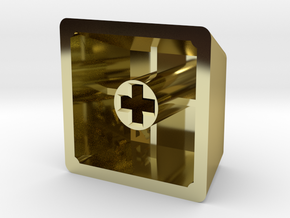 """GeekHack """"gh"""" Keycap (R4, 1x1) in 18K Gold Plated"""