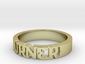 BlakOpal 'Burner' Cutout Band - Size 11 in 18K Gold Plated