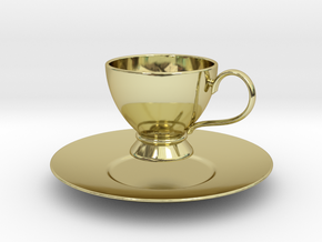 1/6 scale Tea Cup & saucer in 18K Gold Plated
