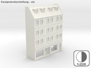 Stadthaus Halbrelief 1 - 1:220 (Z scale) in White Natural Versatile Plastic