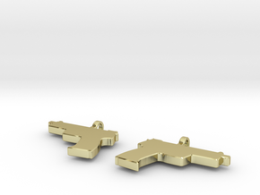 USP .45 EARING DANGLES (FIT 16 GAUGE JEWELRY) in 18K Gold Plated