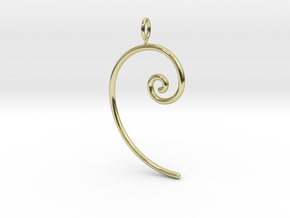 Fibonacci spiral, according to the golden ratio in 18K Gold Plated