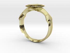 Christian Navigator Ring 2 in 18K Gold Plated