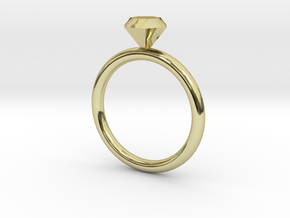 Ring Diamond 16D in 18K Gold Plated