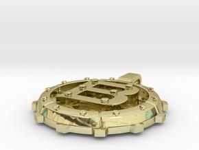 "Steampunk Monogram Pendant ""B"" in 18K Gold Plated"