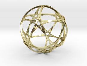 Pentragram Dodecahedron 1 (narrowest) in 18K Gold Plated