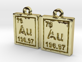 Gold Periodic Table Earrings in 18K Gold Plated