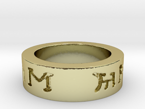I love you in elven ring in 18K Gold Plated