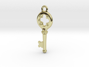 Key Pendant  in 18K Gold Plated