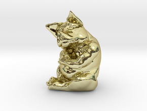 Piggy 3 Inches Tall in 18K Gold Plated