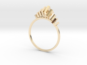 IX²  in 14k Gold Plated Brass