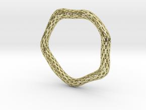 Irregular Bracelet (Size L) in 18K Gold Plated