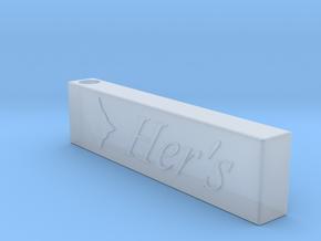 Simple Men's Pendant in Smooth Fine Detail Plastic