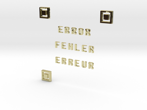 ERROR FEHLER ERREUR QR CODE in 18K Gold Plated