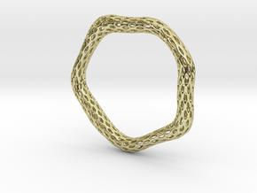 Irregular Bracelet (Size M) in 18K Gold Plated