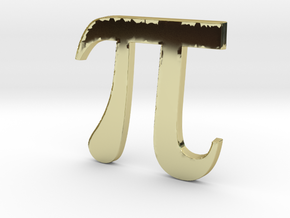 PI 3D in 18K Gold Plated