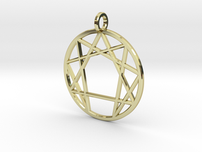 Holy Mountain Pendant in 18K Gold Plated