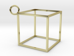 Square Earings in 18K Gold Plated